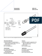 Data Sheet Foto Transistor