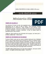 PALABRA PROFÉTICA PARA ABRIL DE 2012