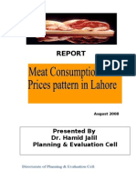 Meat Consumption and Prices Pattern in Lahore