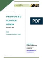 SolutionDesign Document Sample