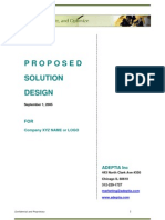 SolutionDesign Document Sample