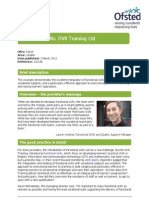 DV8 Training Ltd - Good Practice Example