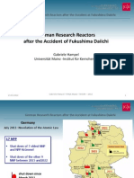 German Research Reactorsafter the Accident of Fukushima Daiichi