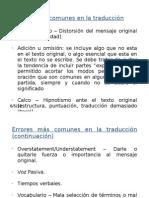 Errores más comunes en la traducción