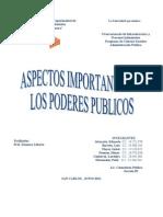 Aspectos Importantes de Los Poderes Publicos