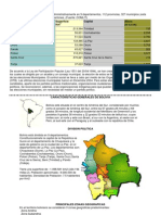 División política de Bolivia