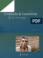 Gratitude & Generosity in cross-cultural exchanges