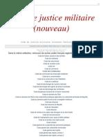 Justice Militaire Nouveau