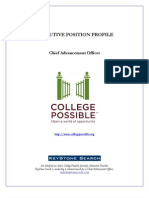 College Possible - Chief Advancement Officer