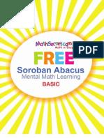 FREE Soroban Abacus Mental Math Learning Basic