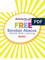 FREE Soroban Abacus Mental Math Learning Basic