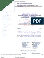 Module Handbook - Master Mathematics