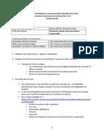 Compte rendu (2012-05-22) Code d'éthique