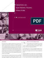Electronic Filing Structure Guide