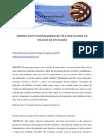 Microsoft Word - DIZERES INSTITUCIONALIZADOS NA FALA DOS ALUNOS DO COLÉGIO DE APLICAÇÃO