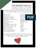 Classroom Donation Wishlist