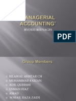 MANAGERIAL ACCOUNTING'