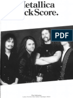 (Guitars Bass Drum) - Metallica - Rock Score