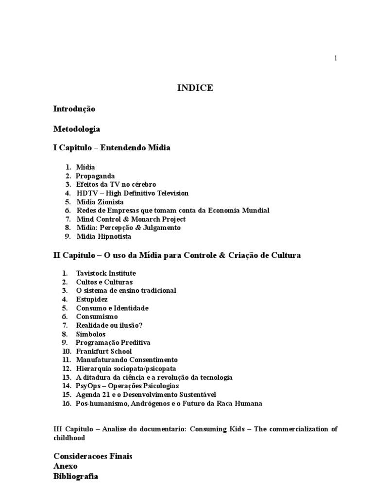 Monografia   A Midia Manipuladora Subvertendo A Cultura e A ...