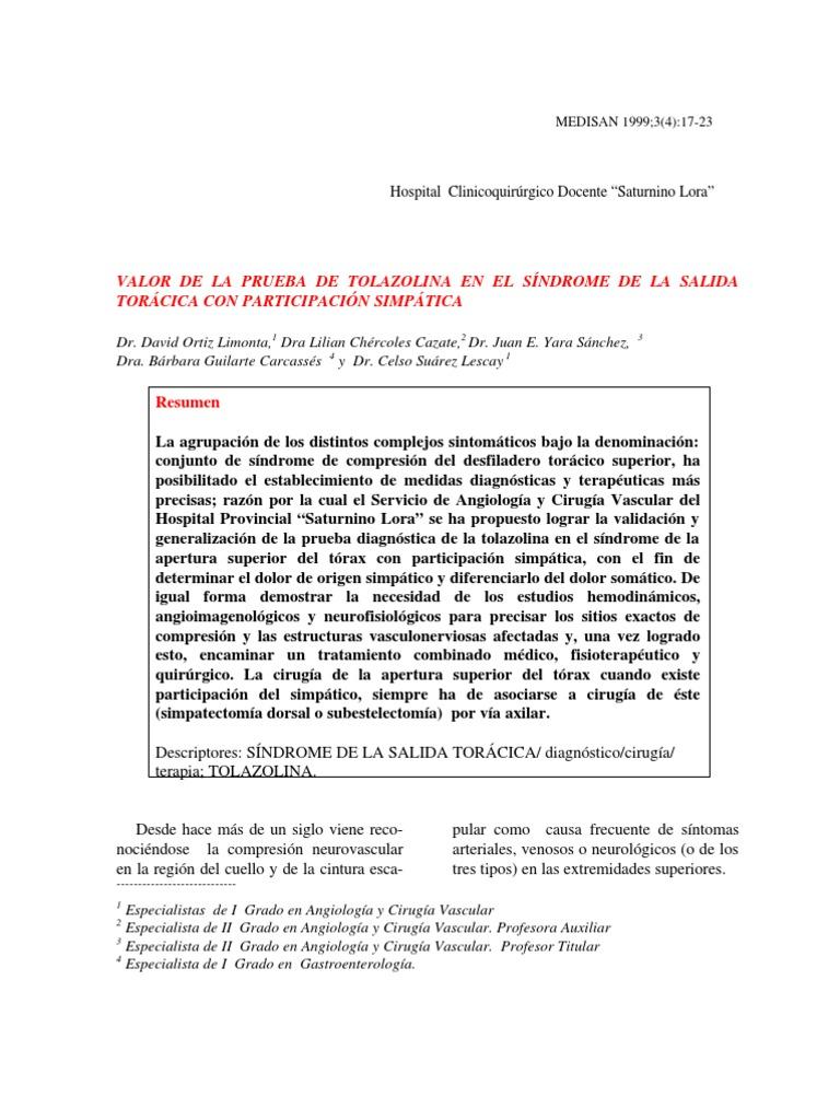 Asombroso Síndrome De Salida Torácica Anatomía Viñeta - Anatomía de ...