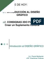 ÚLTIMA CLASE DE DISEÑO GRÁFICO Y CONSIGNAS PARA EL SUPLEMENTO CULTURAL!
