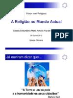 A Religião no Mundo Actual - Perspectiva Baha'i
