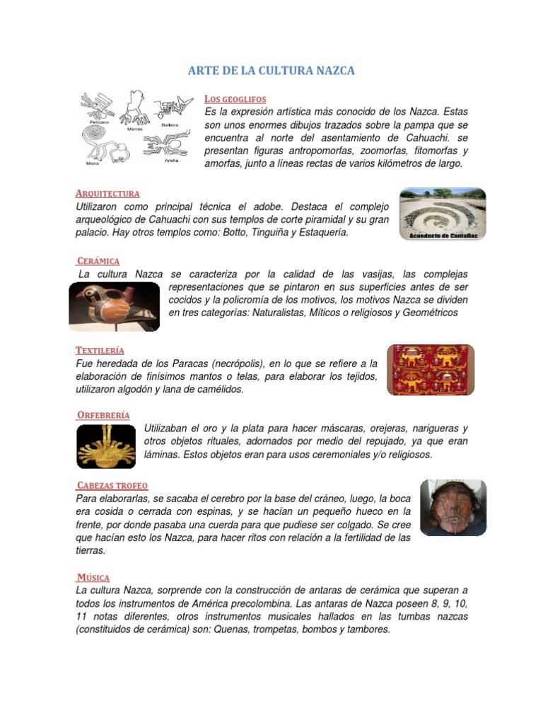 Arte de la cultura nazca Libros de ceramica pdf