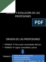 Origen y Evolucion de Las Profesiones