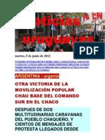 Noticias Uruguayas Martes 6 de Junio Del 2012