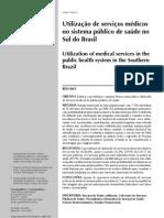 Bastos 2001 utilizaç de serviços médicos no sistema público de saúde