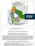 Boletín Agrometeorológico Trimestral Nro 2-Mayo, Junio y Julio 2012