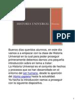 Historia Universal 1