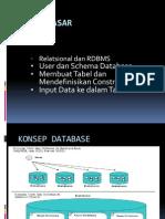 Konsep Dasar Database