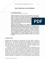 Adsortion of Metal Ions on Bed Sediments