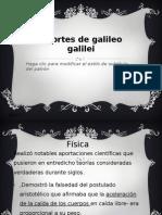 Aportes de Galileo Galilei
