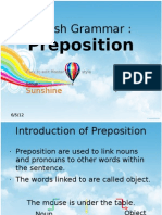 English Grammar - Preposition