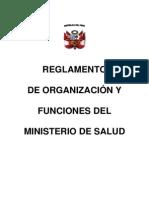 Reglamento de Organizacion y Funciones Del Ministerio de Salud