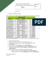 Taller 4 de Excel