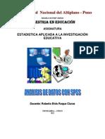 Material II Analisis Estadistico Con Spss - Maestria Cusco
