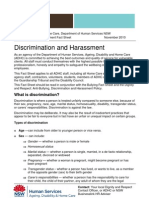 Discrimination and Harassment Fact Sheet FINAL