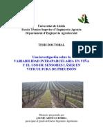 Investigación sobre Variabilidad Intraparcelaria en Viña y el uso de Sensores Láser en Viticultura de Precisión