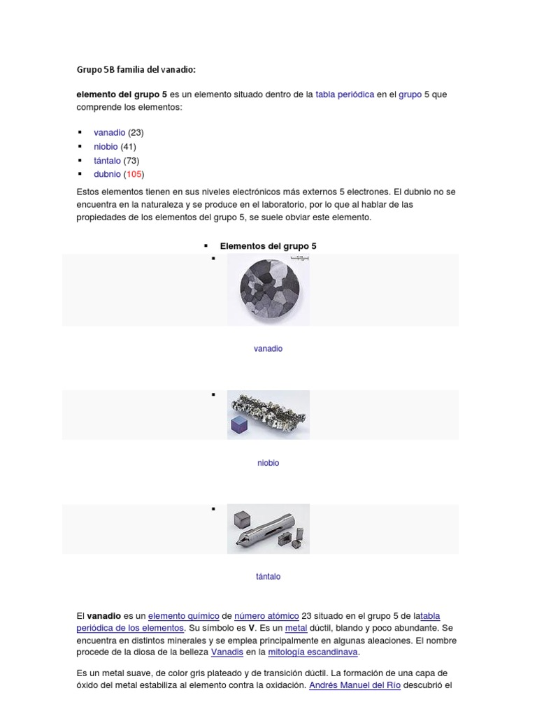 Grupo 5b y 6b de la tabla periodica grupo 5b y 6b de la tabla periodica urtaz Images