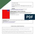 Budd (2004) Conceptual Framework for Regional Competitiveness