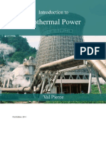 Introduction to Geothermal Power