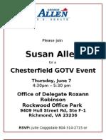 SBA Cfield GOTV Event Flier