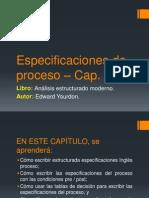 Especificaciones de proceso – Cap 11