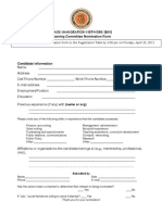 BIN National Steering Committee Form