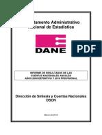 PIB Colombia Hasta 2010 DANE