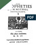 Nostradamus Edition 1555