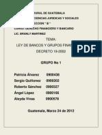 Ley de Bancos y Grupos Financieros Grupo1